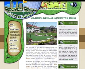 Cleveland Custom Putting Greens